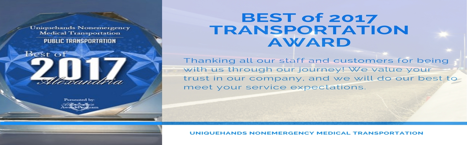 Uniquehands Transportation Award