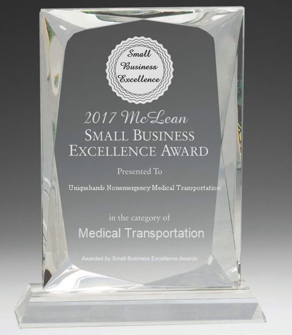 business award Excellence Medical Transportation